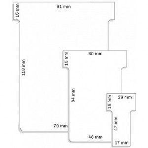 Image for Franken T-Card Size 1 White Pack of 100 TK109