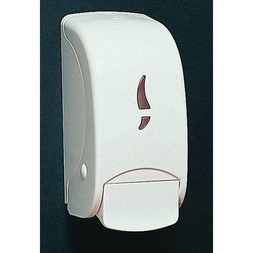 White ABS Plastic 1000ml Bulk Fill Hand Soap/Gel Dispenser Unit  (Each)