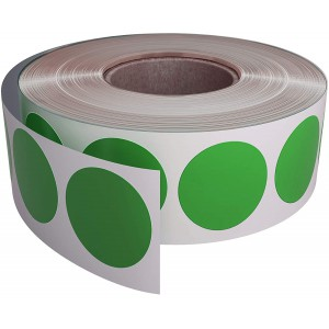 Image for 38mm Labels on Roll Round Diameter 38mm Green (1000 per Roll )