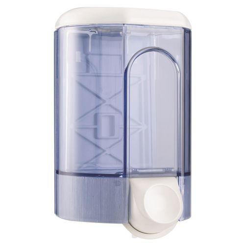 White/Transparent 0.8Ltr Bulk Fill Hand Soap/Gel Dispenser 250h 100w 100mmd (Each)