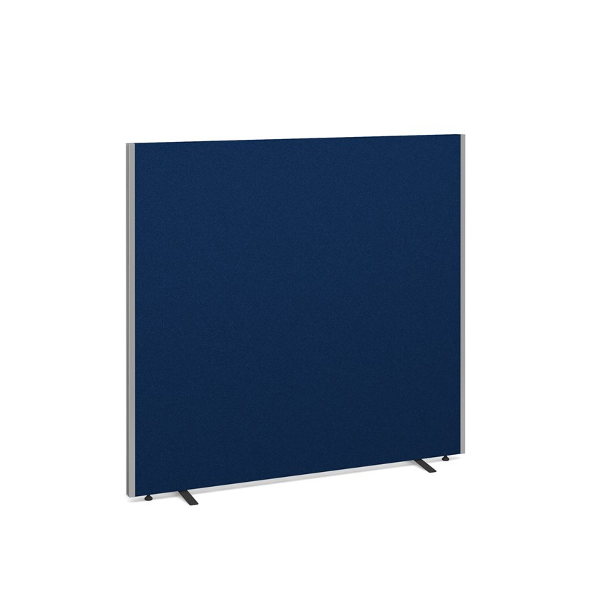 Floor standing fabric screen 800mm wide x 1200mm high - blue