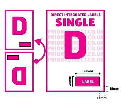 Single Integrated Label Style D 1000 sheets