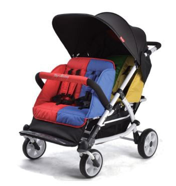 Familidoo Lightweight Stroller - 4 Seater with Rain Cover