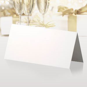 WEDDING TABLE NAME PLACE CARDS SMOOTH BLANK WHITE PK100