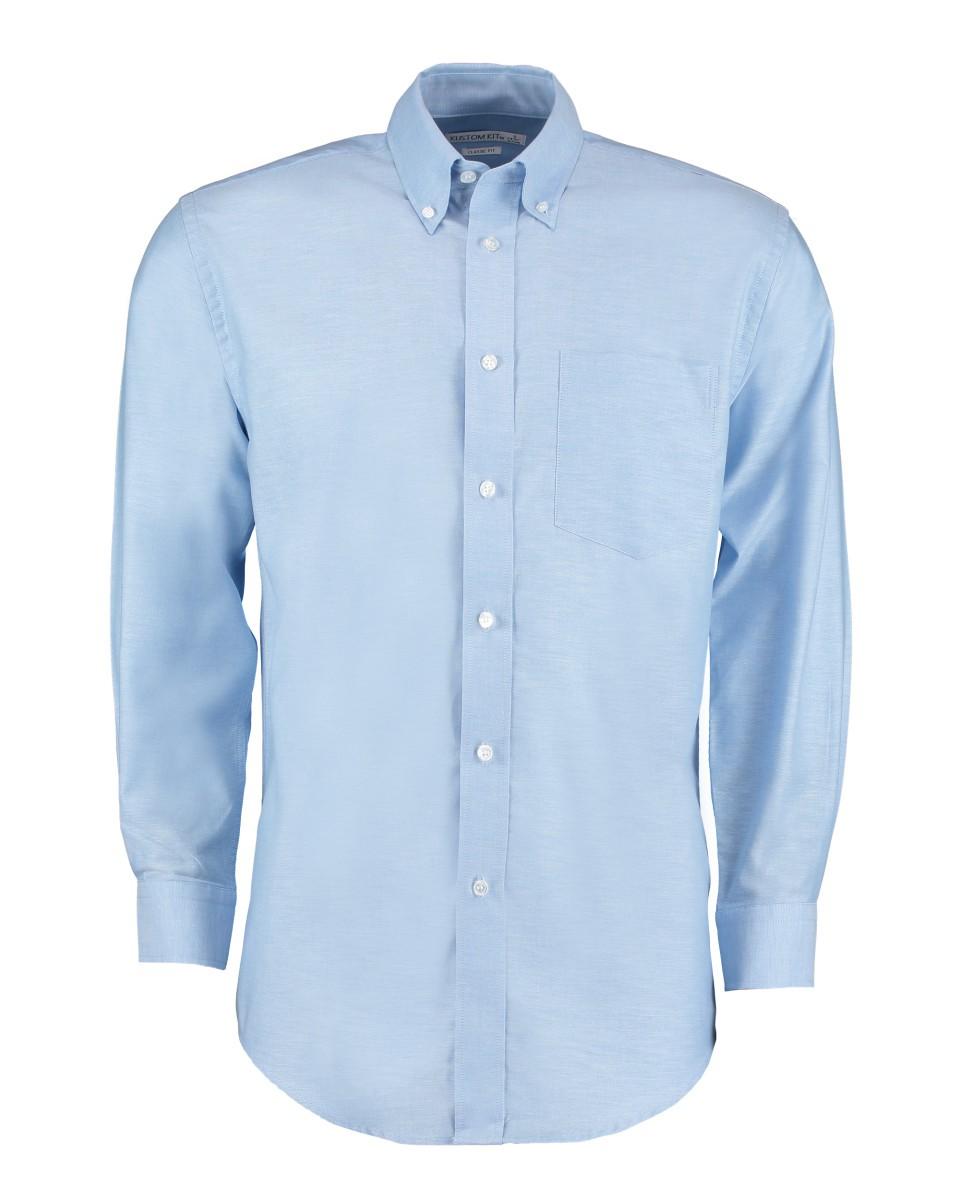 cabde7d2507 Portmeirion - Mens Oxford Long Sleeve Shirt - Light Blue - 17.5 ...