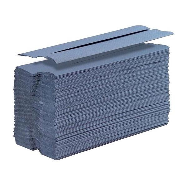 1 Ply Blue C-Fold Hand Towel Packed 2850 Sheets