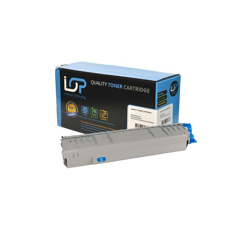 Paperstation Remanufactured Toner Cartridge for use in Oki MC 851 / 44059167 / cyan 7300 pages