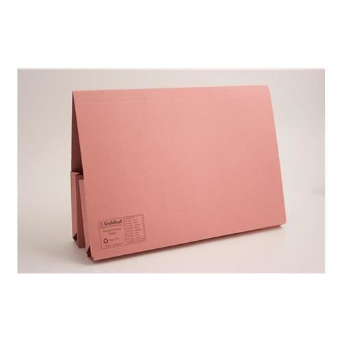 NR Double Pocket Wallet Folder Foolscap pink (must be ordered in 25's)