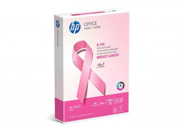 HP Office A4 80gsm Paper 'Pink Ream' PK500 - £0.10 from every ream sold is donated to fight breast cancer