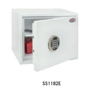 Image for Phoenix Fortress White High Security Burglary Safe SS1182E - Electronic Lock