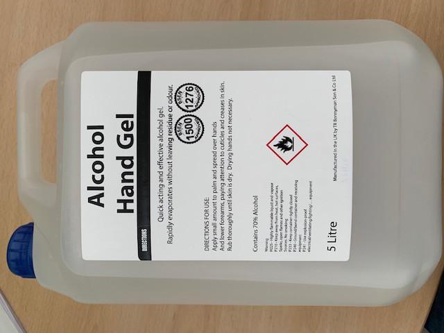 70% Alcohol Hand Sanitiser Gel  (5 Litre)
