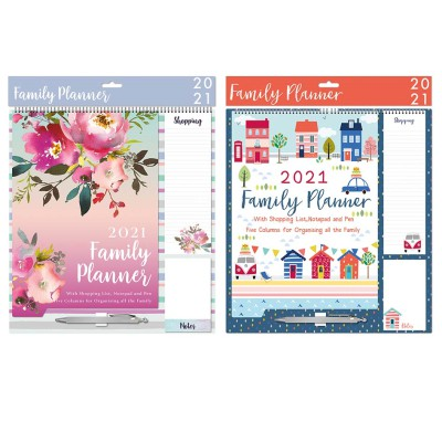 2021 Family Planner with pen