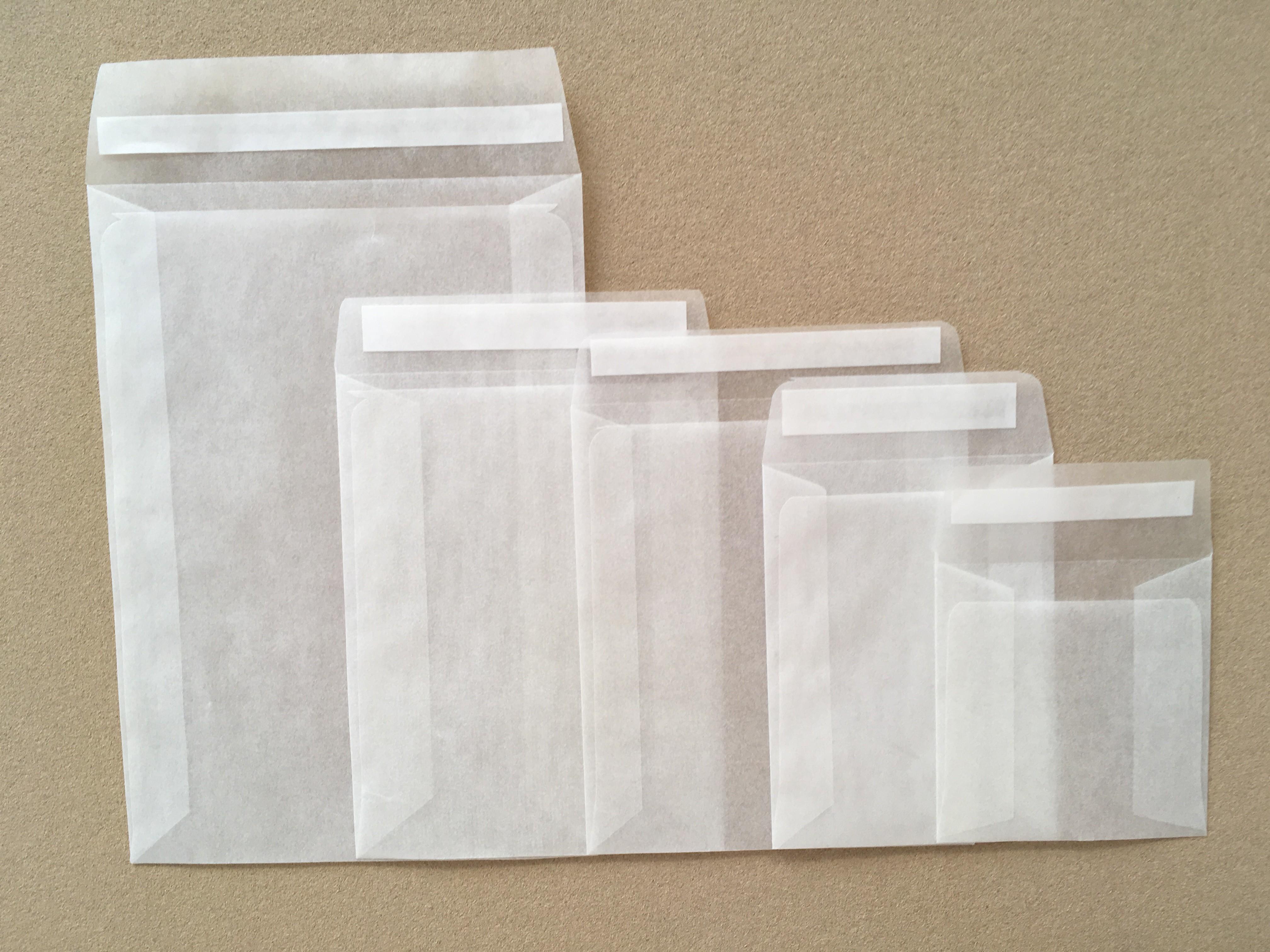 92mm x 68mm Glassine Peel and Seal Envelope Bags [Pack of 1000]
