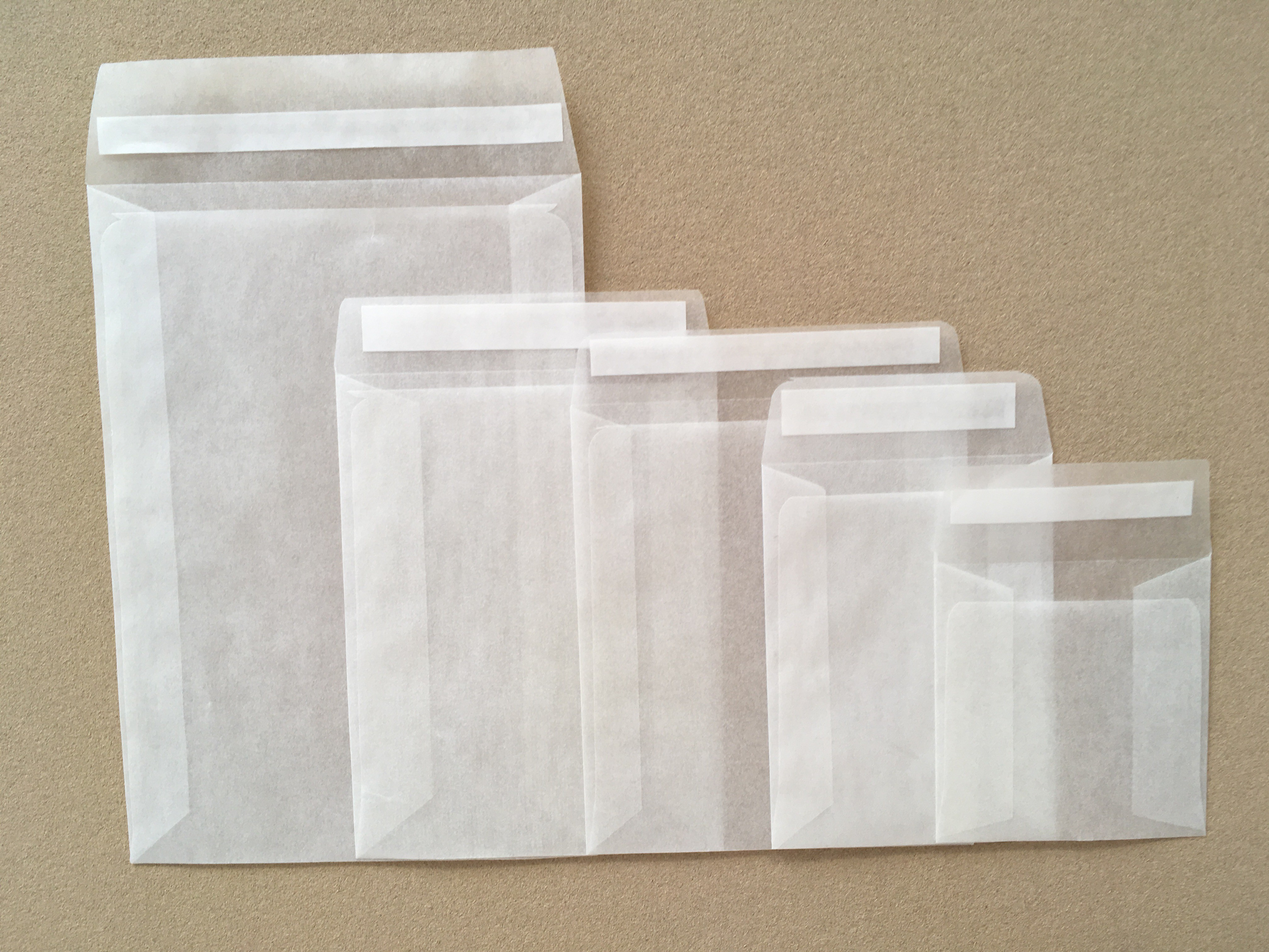 108mm x 92mm Glassine Peel and Seal Envelope Bags [Pack of 1000]