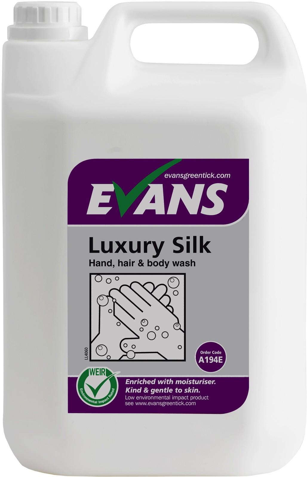 Evans Luxury Silk Hand, Hair & Body Wash 5 Litre