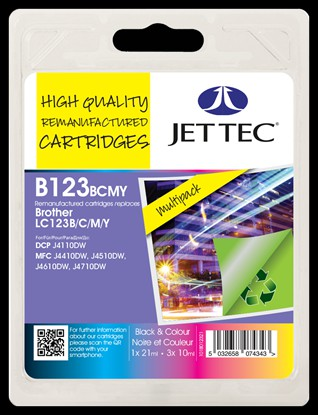 Jet Tec High Quality Remanufactured Cartridges LC123 Multipack