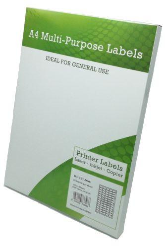 A4 Multipurpose Labels 65 per sheet 38.1mm x 21.2mm Pack 100
