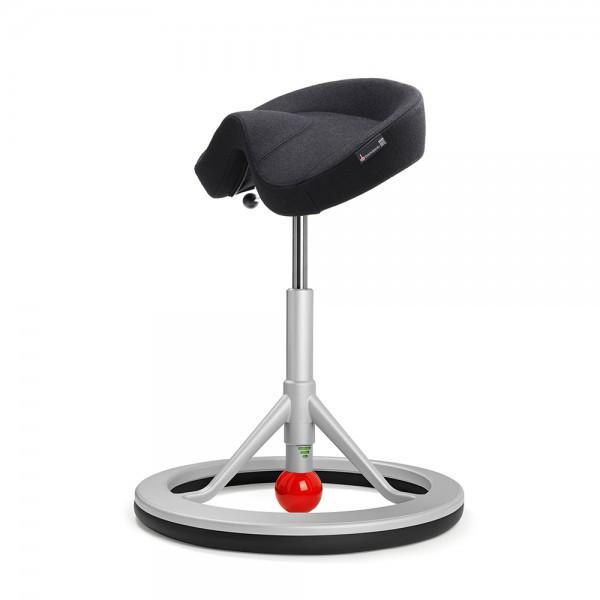 Back App Chair 2.0 Silver Grey, Alcantara Black, red ball