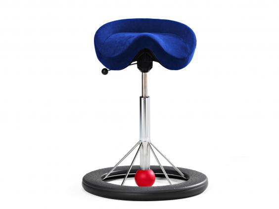 Back App Chair 2.0 Silver Grey, Alcantara Commodore Blue, red ball