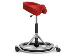 Back App Chair  2.0 Polished Aluminium, Alcantara Goya Red, black ball