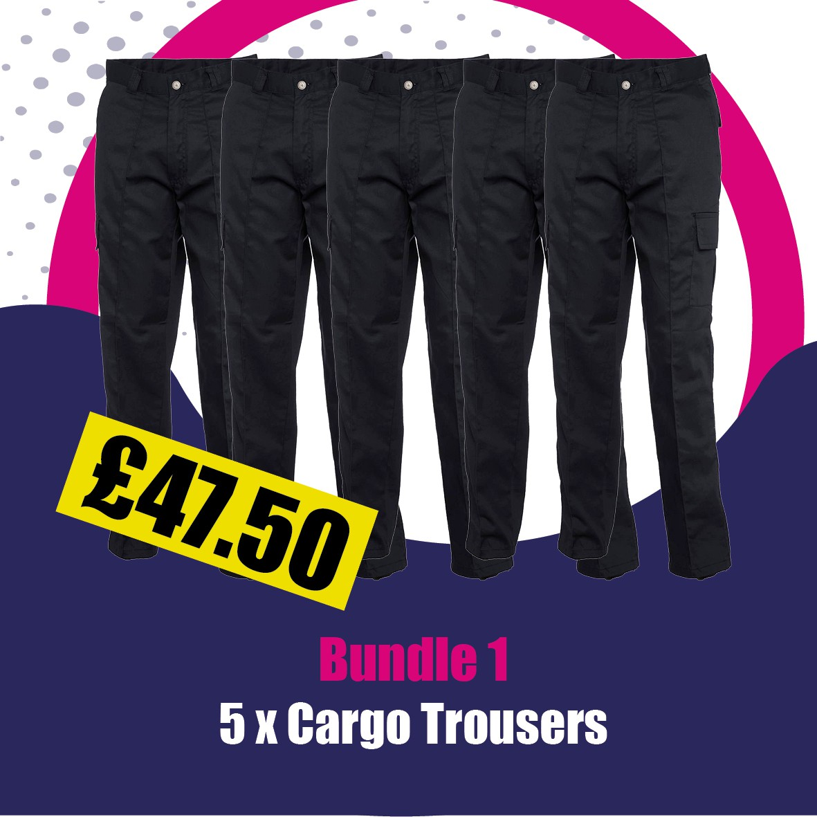 5 X Cargo Trousers Bundle Offer
