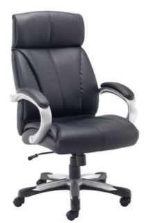 Cronos Executive Black Leather Chair with Arm