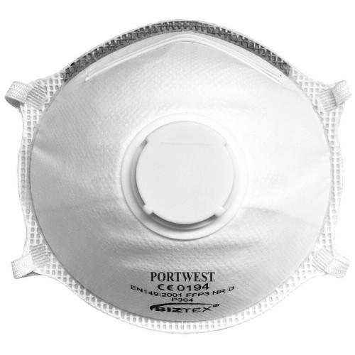 FFP3 Valved Dolomite Light Cup Respirator Face mask x 10