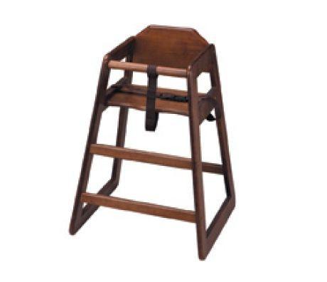 Bolero Wooden Highchair (Dark Wood Finish)