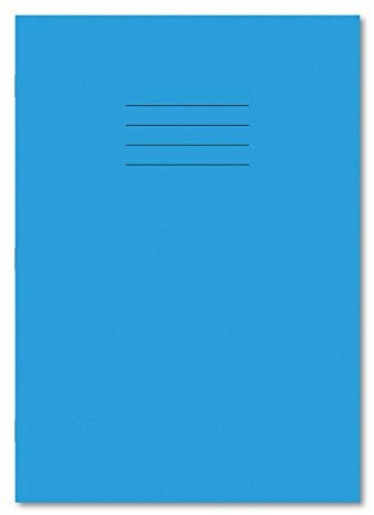 A4 64 Page 20mm Squared Light Blue Exercise Books Pack 50