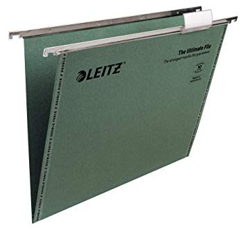 Leitz Ultimate Green A4 Suspension Files V Bottom Box 50