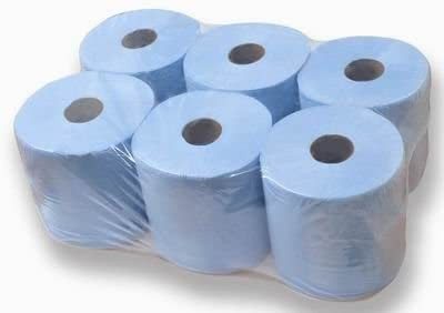 Paperstation 2 Ply Blue Centre Feed Roll 150m Pack 6