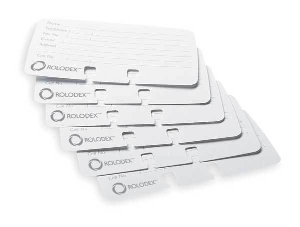 ROTADEX CARD FILE REFILLS PK100 WHITE