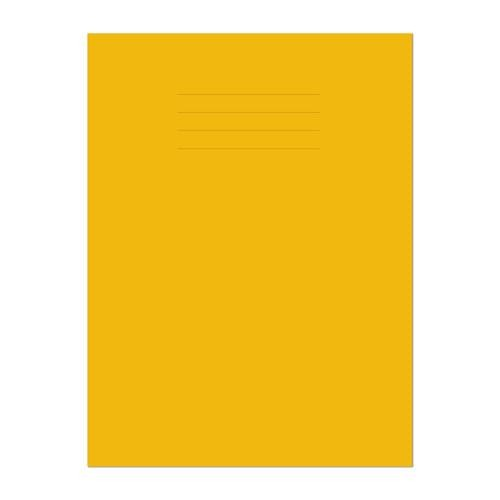 A4 64 Page 12mm Ruled & Margin Yellow Exercise Book Pack 50 *This item is a special order item and is subjet to an extended lead time*