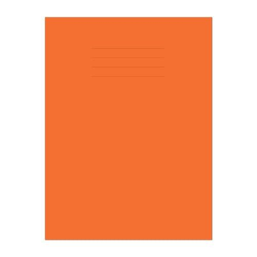 A4 80 Page 8mm Ruled & Margin Orange Exercise Book Pack 50 *This item is a special order item and is subjet to an extended lead time*