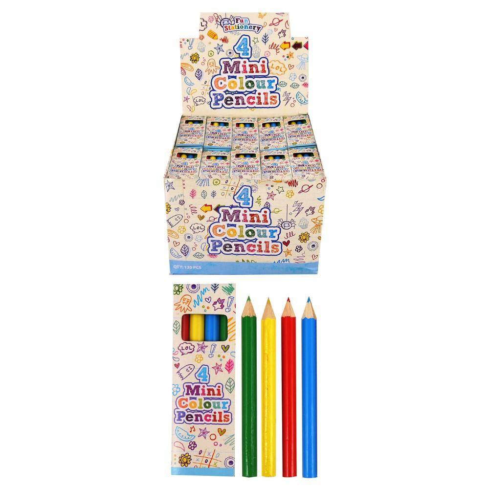 Mini Coloured Pencils Pk4 astd Box120