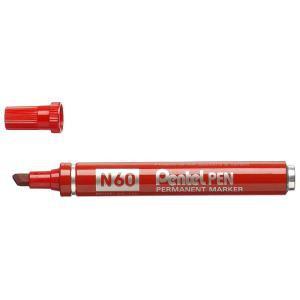 PENTEL N60 MARKER CHISEL RED BX12 N60-B