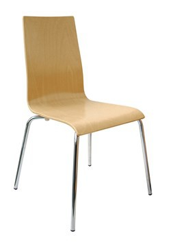 Fundamental dining chair with wooden seat and back - beech