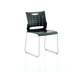 Slide Stackable Chair Black
