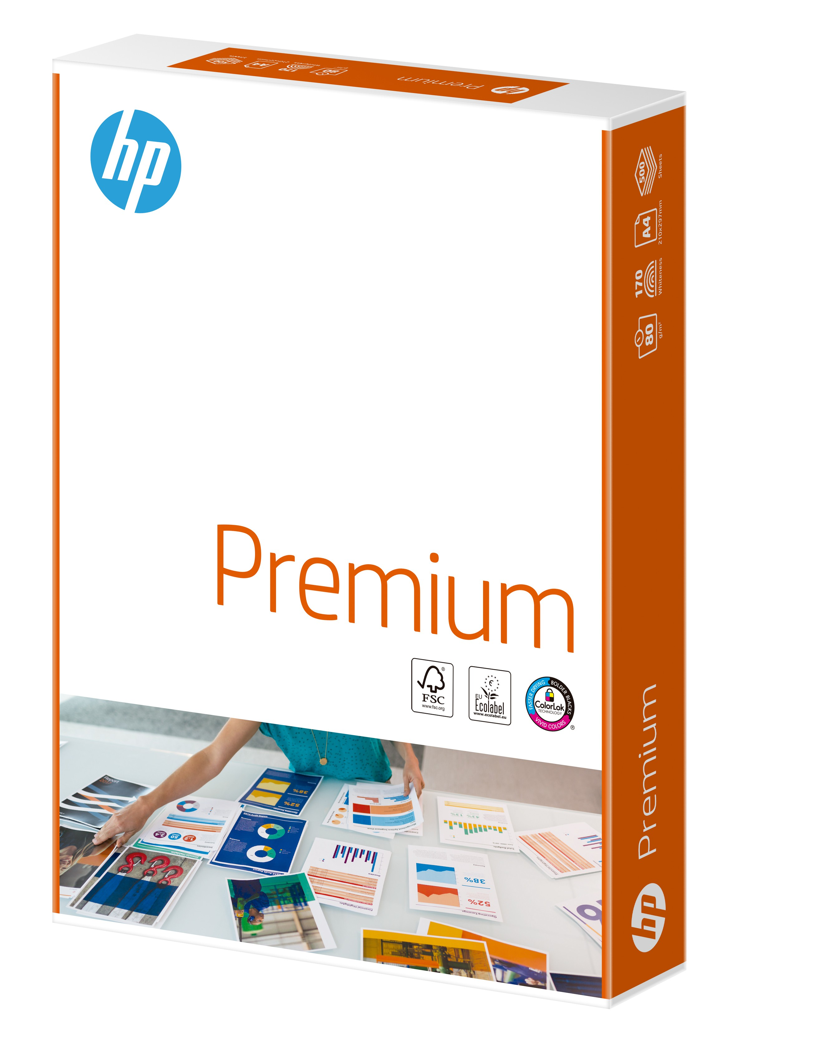 HP Premium Paper Multifunction 80gsm A4 White FSC Colorlok (Box of 2,500 Sheets) CHP850