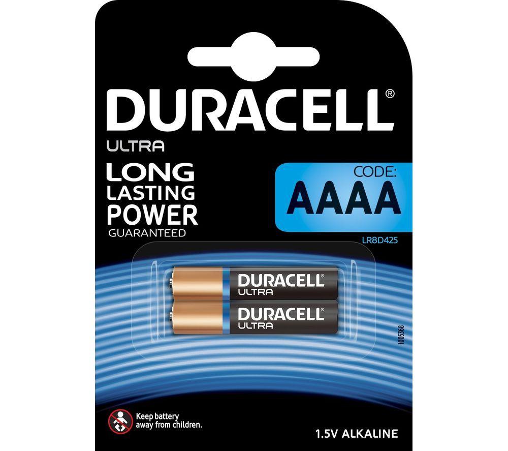 DURACELL - Ultra AAAA Batteries - Pack of 2