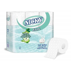 Nicky Elite 2ply Toilet Tissue White x 40 Rolls