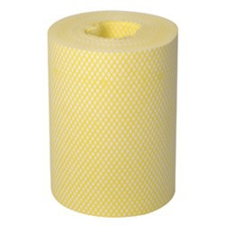 WIPES LIGHTWEIGHT 350 SHEET ROLLS YELLOW 2PK