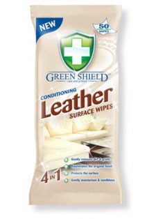 Green Shield Conditioning XL Leather Surface Wipes 50 Pack