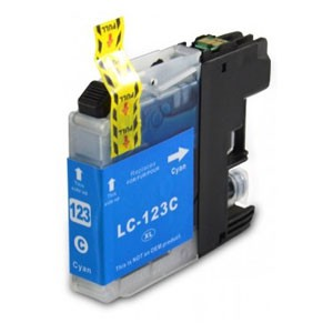 Brother Compatible LC123 Cyan Ink Cartridge