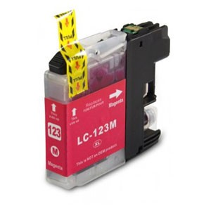 Brother Compatible LC123 Magenta Ink Cartridge