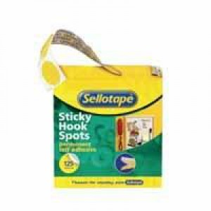 Sellotape Sticky Hook Spots Pack of 125 4098 531367 610096