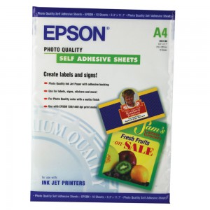 Epson Photo Qual A4 Self-Adhesive Paper