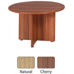 Avior 1200mm Round Meeting Table Natural KF838268