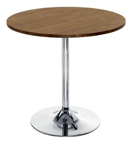 ELIPSE TRUMPET BASE MEETING TABLE CHROME LEG H:740MM X W:800MM WALNUT