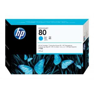 HP 80 Cyan Inkjet Print Cartridge C4872A